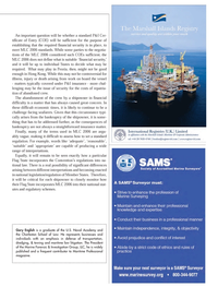Maritime Logistics Professional Magazine, page 13,  Q3 2013