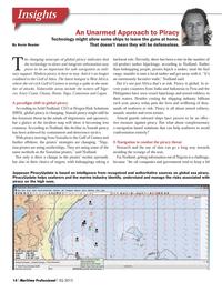 Maritime Logistics Professional Magazine, page 14,  Q3 2013 e-navigation