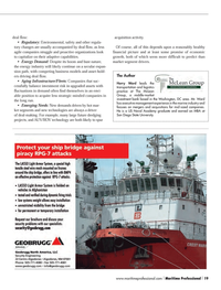 Maritime Logistics Professional Magazine, page 19,  Q3 2013 San Diego State University
