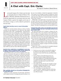 Maritime Logistics Professional Magazine, page 20,  Q3 2013 Interview Last
