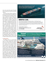 Maritime Logistics Professional Magazine, page 25,  Q3 2013 important tool