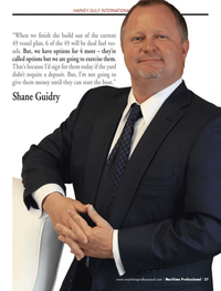 Maritime Logistics Professional Magazine, page 37,  Q3 2013 Shane Guidry