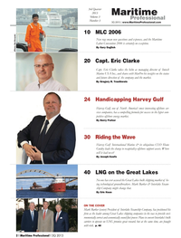 Maritime Logistics Professional Magazine, page 2,  Q3 2013 Shane Guidry
