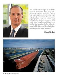 Maritime Logistics Professional Magazine, page 42,  Q3 2013 cost transportation