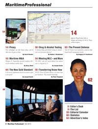 Maritime Logistics Professional Magazine, page 4,  Q3 2013