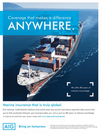 Maritime Logistics Professional Magazine, page 3rd Cover,  Q3 2013
