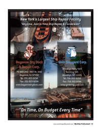 Maritime Logistics Professional Magazine, page 13,  Q4 2013
