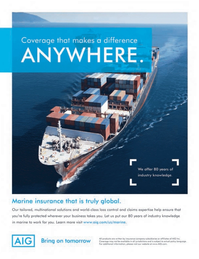 Maritime Logistics Professional Magazine, page 2nd Cover,  Q4 2013