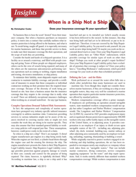 Maritime Logistics Professional Magazine, page 18,  Q4 2013 insurance coverage ts