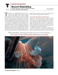 Maritime Logistics Professional Magazine, page 24,  Q4 2013 United States