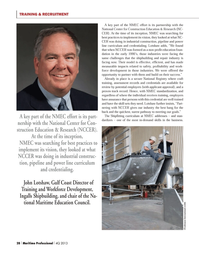 Maritime Logistics Professional Magazine, page 28,  Q4 2013 John Lotshaw