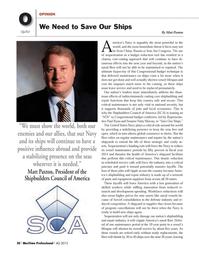 Maritime Logistics Professional Magazine, page 30,  Q4 2013 Congress