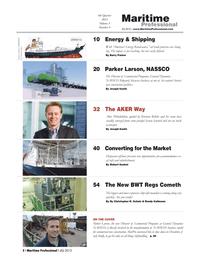 Maritime Logistics Professional Magazine, page 2,  Q4 2013 Christina Sun