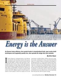 Maritime Logistics Professional Magazine, page 43,  Q4 2013 United States