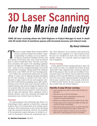 Maritime Logistics Professional Magazine, page 46,  Q4 2013 Laser