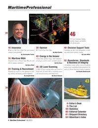 Maritime Logistics Professional Magazine, page 4,  Q4 2013
