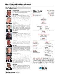 Maritime Logistics Professional Magazine, page 6,  Q4 2013 Claudio Paschoa Mumbai Joseph Fonseca