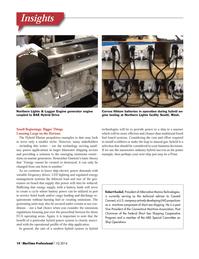 Maritime Logistics Professional Magazine, page 14,  Q1 2014