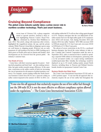Maritime Logistics Professional Magazine, page 16,  Q1 2014 Holland America