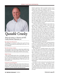 Maritime Logistics Professional Magazine, page 36,  Q1 2014