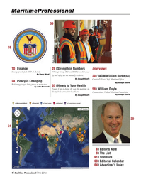 Maritime Logistics Professional Magazine, page 4,  Q1 2014 Harry Ward