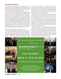 Maritime Logistics Professional Magazine, page 60,  Q1 2014