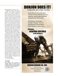Maritime Logistics Professional Magazine, page 13,  Q2 2014 industry