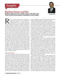 Maritime Logistics Professional Magazine, page 14,  Q2 2014