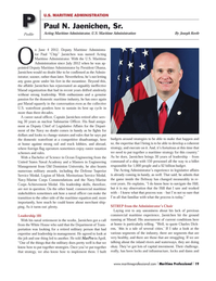 Maritime Logistics Professional Magazine, page 19,  Q2 2014 Charles Dick