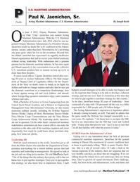 Maritime Logistics Professional Magazine, page 19,  Q2 2014