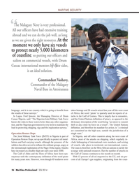 Maritime Logistics Professional Magazine, page 26,  Q2 2014 Nigerian government