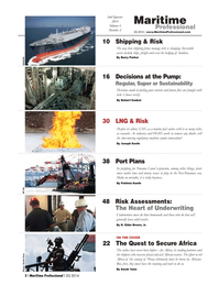 Maritime Logistics Professional Magazine, page 2,  Q2 2014