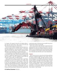 Maritime Logistics Professional Magazine, page 42,  Q2 2014