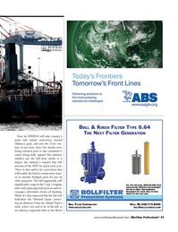Maritime Logistics Professional Magazine, page 43,  Q2 2014