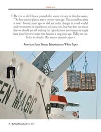 Maritime Logistics Professional Magazine, page 44,  Q2 2014