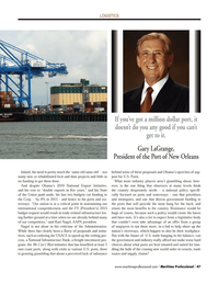 Maritime Logistics Professional Magazine, page 47,  Q2 2014 We Can
