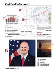 Maritime Logistics Professional Magazine, page 4,  Q2 2014