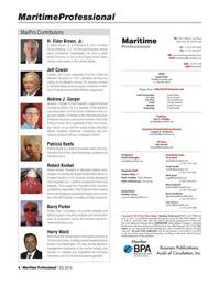 Maritime Logistics Professional Magazine, page 6,  Q2 2014