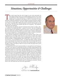 Maritime Logistics Professional Magazine, page 8,  Q3 2014