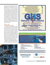 Maritime Logistics Professional Magazine, page 33,  Q3 2014