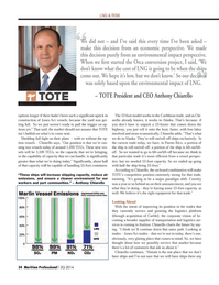 Maritime Logistics Professional Magazine, page 34,  Q3 2014