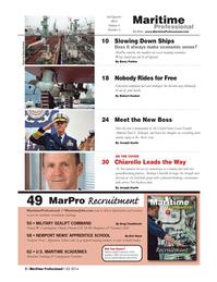 Maritime Logistics Professional Magazine, page 2,  Q3 2014