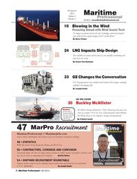 Maritime Logistics Professional Magazine, page 2,  Q4 2014