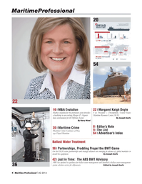Maritime Logistics Professional Magazine, page 4,  Q4 2014