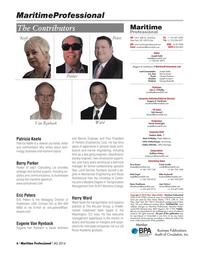 Maritime Logistics Professional Magazine, page 6,  Q4 2014