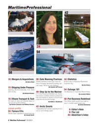 Maritime Logistics Professional Magazine, page 4,  Q1 2015