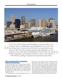 Maritime Logistics Professional Magazine, page 62,  Q1 2015