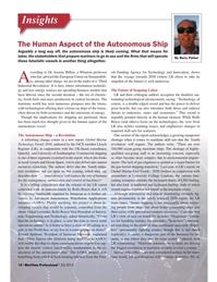 Maritime Logistics Professional Magazine, page 14,  Q3 2015