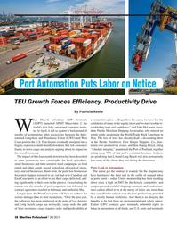 Maritime Logistics Professional Magazine, page 28,  Q3 2015