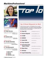 Maritime Logistics Professional Magazine, page 4,  Q3 2015